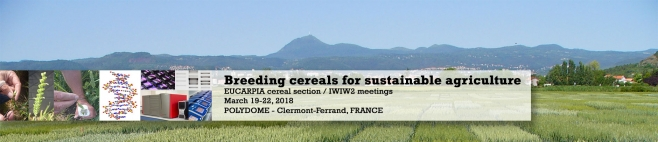 Welcome to EUCARPIA cereal section / IWIW2 meetings 2018
